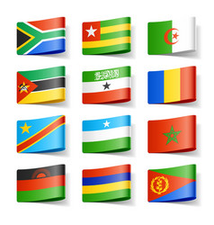 Africa flags vector