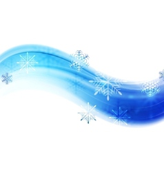 Blue wavy abstract Christmas background vector image vector image