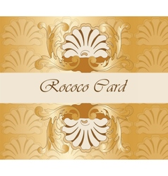 Classic royal gold ornamented card vector image vector image