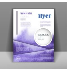 Design a flyer or booklet with a beautiful vector image