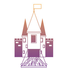 medieval castle with drawbridge vector image