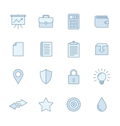 Universal line icons set vector image vector image