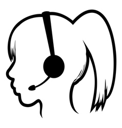Call center woman icon vector image vector image