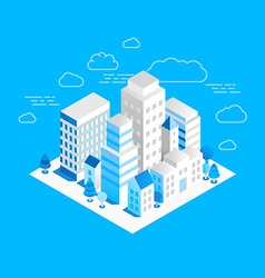 city landscape isometric vector image vector image