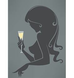 drinking girl vector image