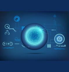 electronic eye vector image