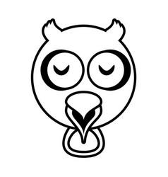 outline owl head animal vector image vector image