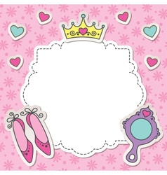 princess frame vector image vector image