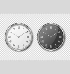 3d realistic classic metal silver wall vector image