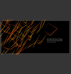 Abstract element with dynamic lines vector