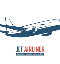 airliner emblem on white background vector image