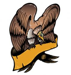 american eagle with banner illustratio vector image