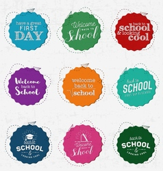 Back to School and Looking Cool Badges vector image