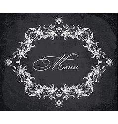 Baroque ornamental frame vector image