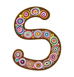 Beautiful letter S vector