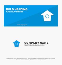 Birdhouse tweet twitter solid icon website banner vector