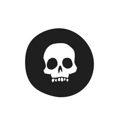black death skull icon vector image
