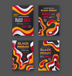 black friday sellout special discount of autumn vector image