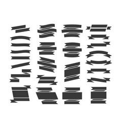black ribbons set vector image