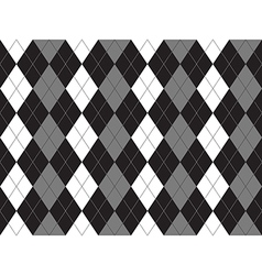 Black white gray argyle textile seamless pattern vector
