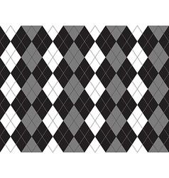 Black white gray argyle textile seamless pattern vector