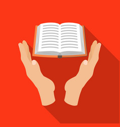 book donation icon in flate style isolated on vector image