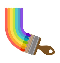 brush painting rainbow vector image