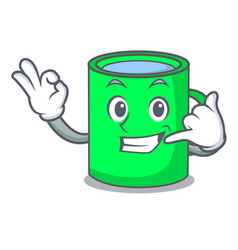 call me mug mascot cartoon style vector image