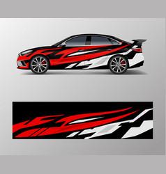Car wrap design for sport car car wrap design vector
