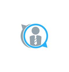 Chat job logo icon design vector