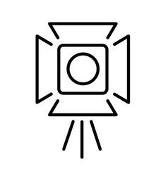 cinema industry spotlight monochrome icon vector image