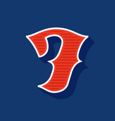 Classic style number seven sport logo vector