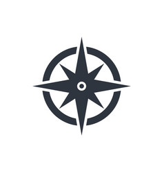 compass pictograph vector image