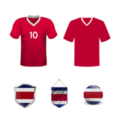 Costa rica soccer jersey vector