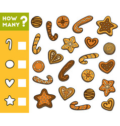 counting game for preschool children count how vector image
