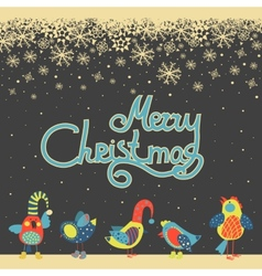 Cute birds celebrating Christmas vector image
