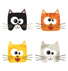 Cute cartoon cats vector image