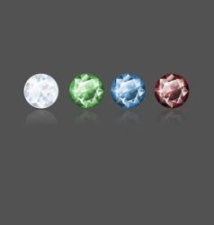 CZ diamond vector