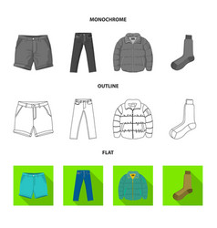 design of man and clothing sign collection vector image