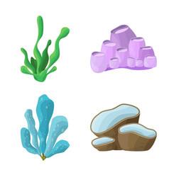 Design underwater and aquarium logo vector