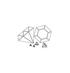 diamond flat icon vector image
