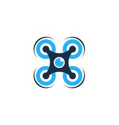 Drone logo icon design vector