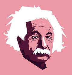 einstein developed theory relativity one vector image