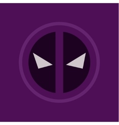 evil eye abstract purple logo sign flat style art vector image