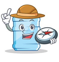 Explorer gallon character cartoon style vector