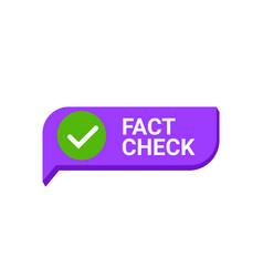 Fact check myth vs truth true fact check vector