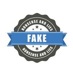 fake badge - sticker with inscription fake vector image