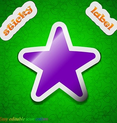 Favorite Star icon sign Symbol chic colored sticky vector