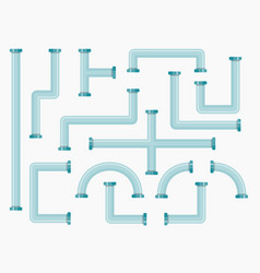 flat industrial pipes collection vector image