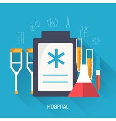 flat medical equipment set icons concept vector image